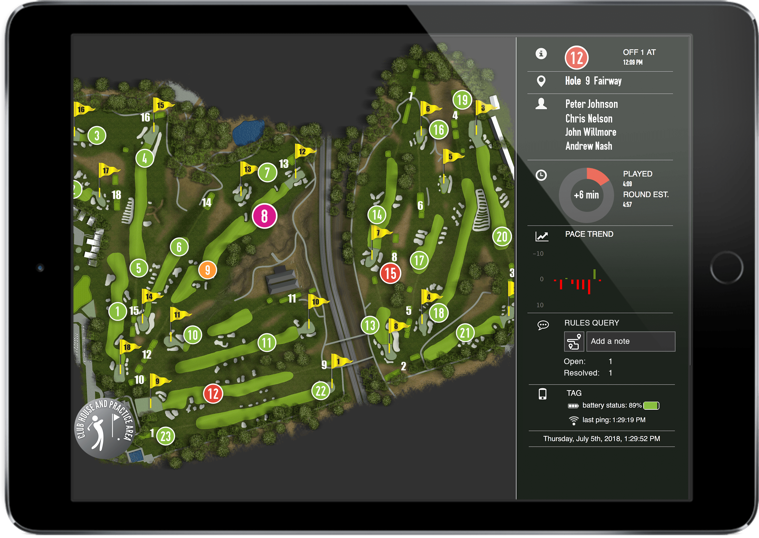 player sidebar ipad 2018